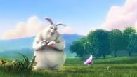 – Big Buck Bunny – « Dans un monde coloré, tout va pour le mieux : un gros lapin se réveille et sort de sa tanière. Il respire à pleins poumons les essences du printemps et admire les papillons. Seulement, c'est sans compter laméchanceté de trois rongeurs qui tuent plusieurs de ces papillons sous les yeux [...]